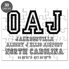 AIRPORT CODES - OAJ - JACKSONVILLE, NORTH C Puzzle