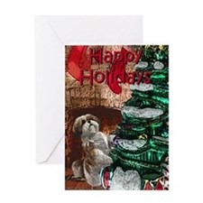 Shih Tzu Christmas Holiday Greeting Cards