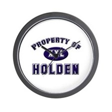 Property of holden Wall Clock