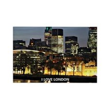 I Love London Rectangle Magnet