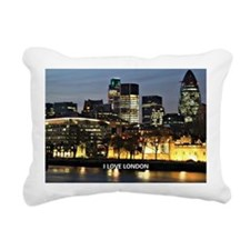 I Love London Rectangular Canvas Pillow