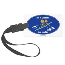 womans_double Luggage Tag