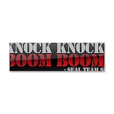 knockkncokboomboom Car Magnet 10 x 3