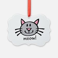 Gray Meow Ornament
