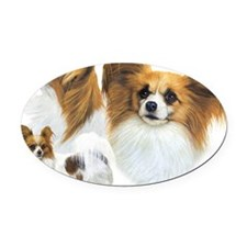 Papillons Oval Car Magnet