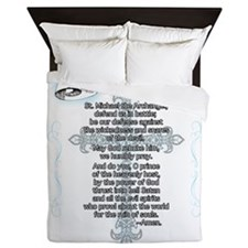 Prayer_StMichael Queen Duvet