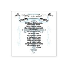 "Prayer_StMichael Square Sticker 3"" x 3"""
