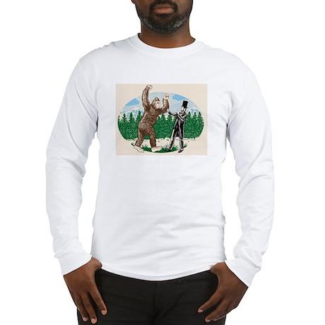 BigfootVsAbe.jpg Long Sleeve T-Shirt