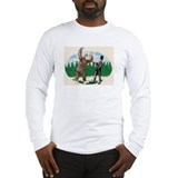 Sasquatch abe lincoln Long Sleeve T-shirts