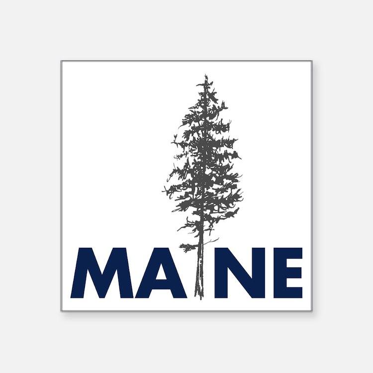"""MaineShirt Square Sticker 3"""" x 3"""""""