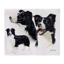 Border Collie Multi Throw Blanket