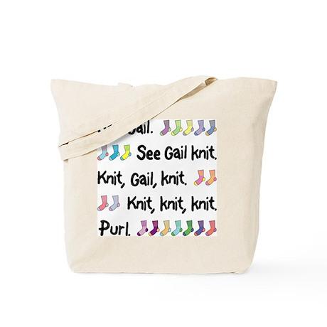 """""""See Gail Knit"""" Tote Bag"""