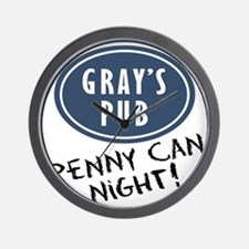 COugar-town_penny-can-night Wall Clock