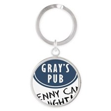 COugar-town_penny-can-night Round Keychain