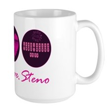 peace_love_steno_2 Mug