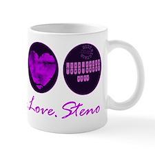 peace_love_steno Mug