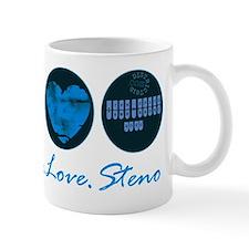 peace_love_steno_1 Mug