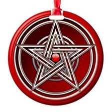 Red Pentacle w/inlay Ornament