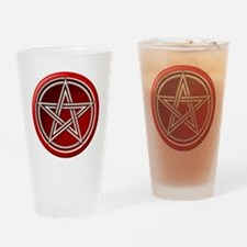 Red Pentacle Drinking Glass