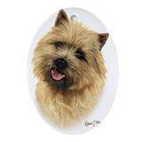 Cairn terrier Oval Ornaments
