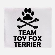 Team Toy Fox Terrier Throw Blanket