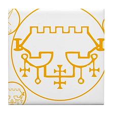symbols-belial-lucifer Tile Coaster