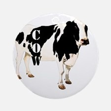 Cow Round Ornament
