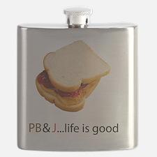 PB  J Life is Good Flask