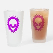 Spinning Schwa Drinking Glass
