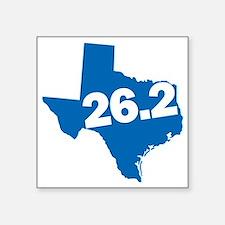 """Texas Marathoner Square Sticker 3"""" x 3"""""""