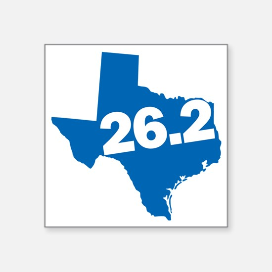 "Texas Marathoner Square Sticker 3"" x 3"""