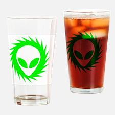 Spinning Schwa Green Drinking Glass