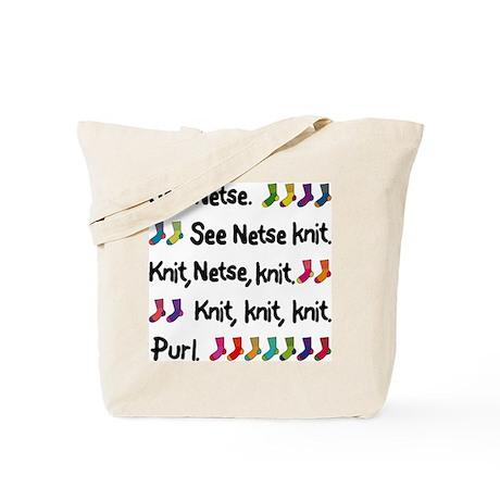 """""""See Netse Knit"""" Tote Bag"""