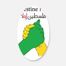 palestine united Oval Car Magnet