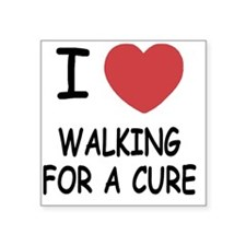 """WALKING_FOR_A_CURE Square Sticker 3"""" x 3"""""""