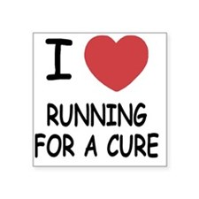 """RUNNING_FOR_A_CURE Square Sticker 3"""" x 3"""""""