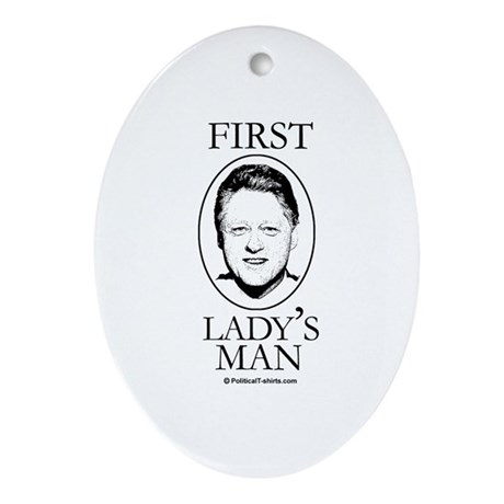 First Lady's Man Oval Ornament