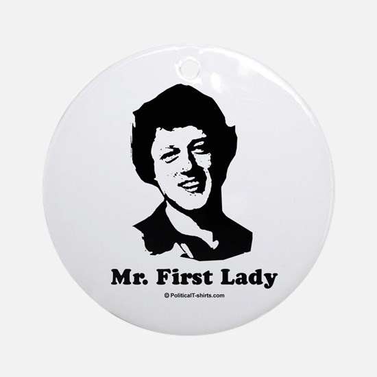 Mr. First Lady Ornament (Round)