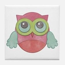 Cute Owl Tile Coaster