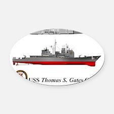 TicoCg-51_ThomasGates_Tshirt_L_10x Oval Car Magnet