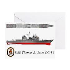 TicoCg-51_ThomasGates_Tshirt_L_10x6 Greeting Card