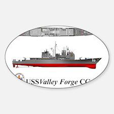 TicoCg-50_Valley_Forge_Tshirt_10x6 Sticker (Oval)