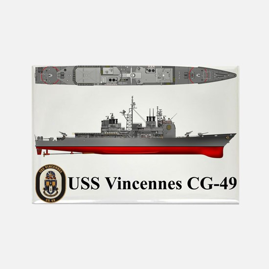 TicoCg-49_Vincennes_Tshirt_Front Rectangle Magnet