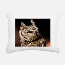 (4) Burrowing Owl Profil Rectangular Canvas Pillow