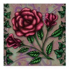 """Ivy and Roses Square Car Magnet 3"""" x 3"""""""