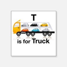 """T_is_Car_Carrier Square Sticker 3"""" x 3"""""""