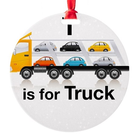 T_is_Car_Carrier Round Ornament