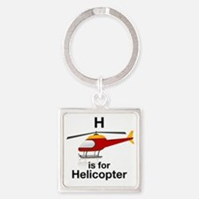 H_is_Helicopter Square Keychain