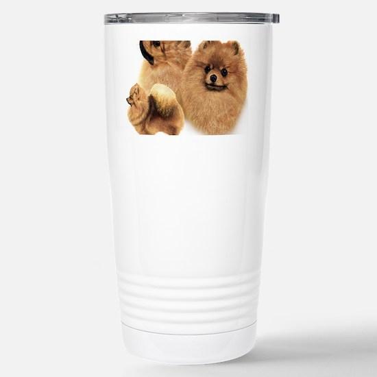 Pomeranian Multi Stainless Steel Travel Mug