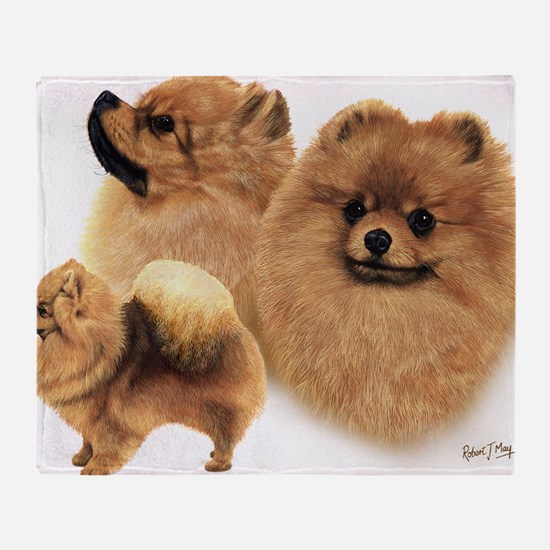 Pomeranian Multi Throw Blanket
